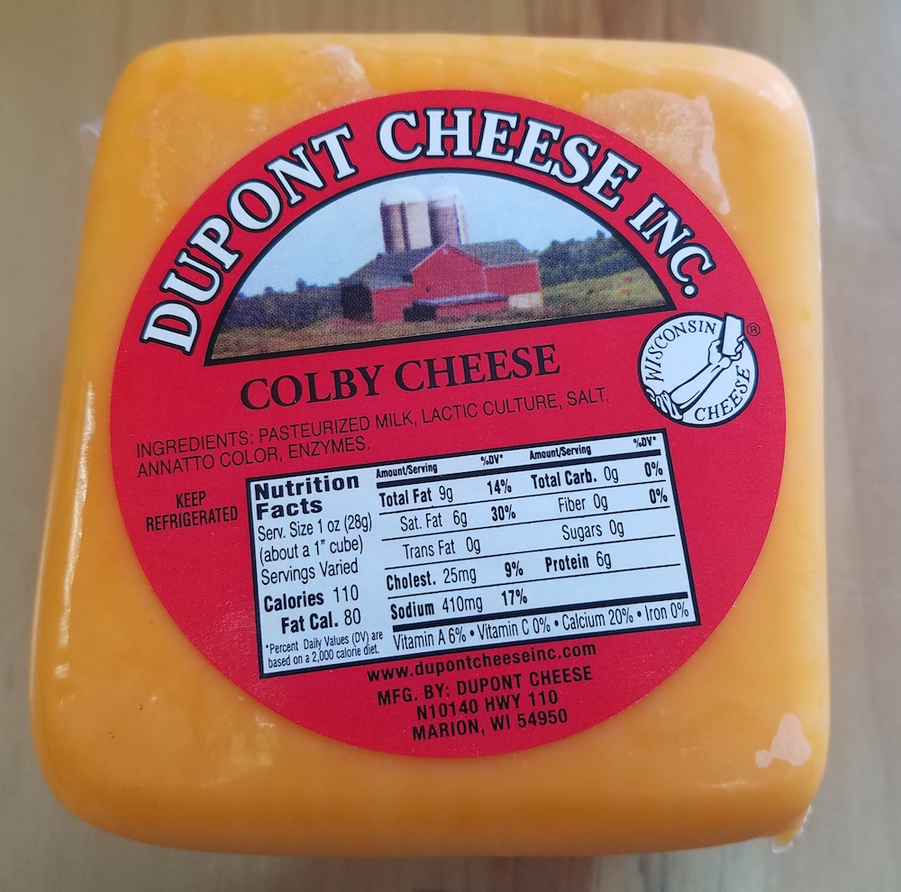 1 lb Colby Cheese