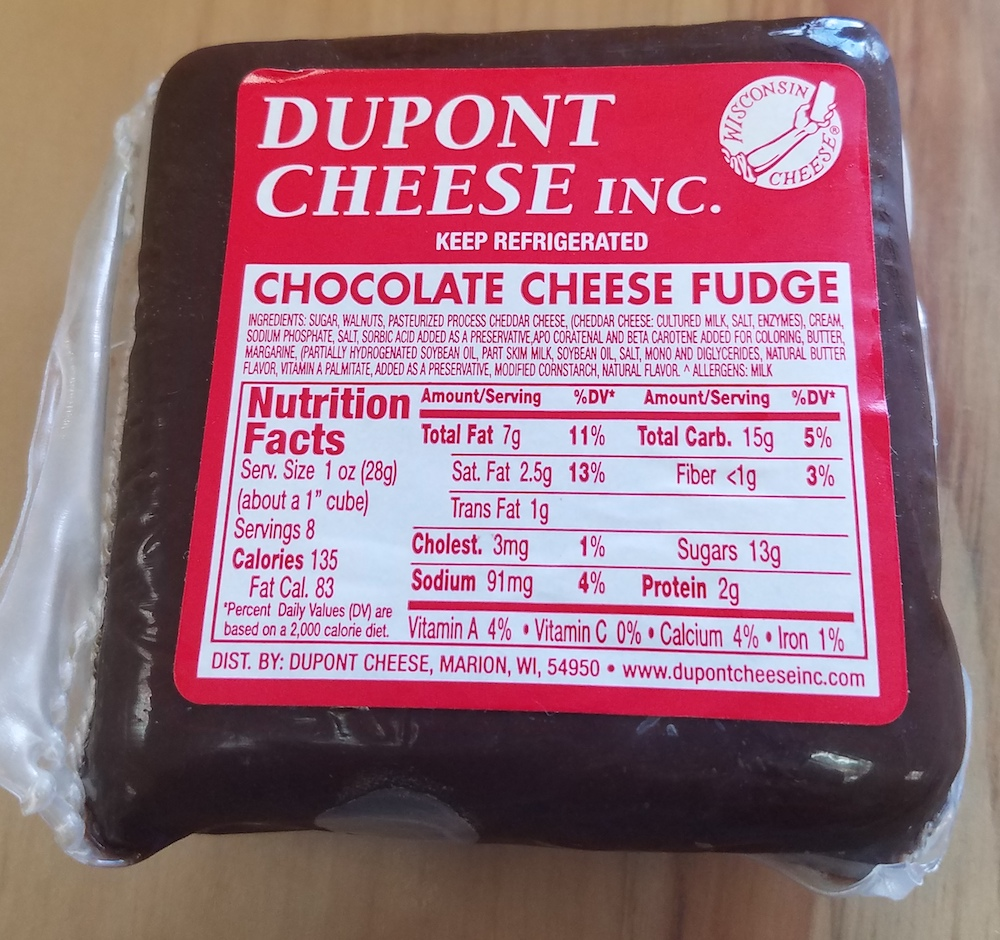 .5 lb Chocolate Cheese Fudge – Dupont Cheese